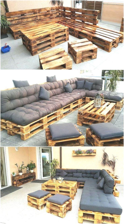 Paletten gemacht Terrassenmöbel – Mobel Diy – #DIY #gemacht #Möbel #Paletten – Pallet Diy