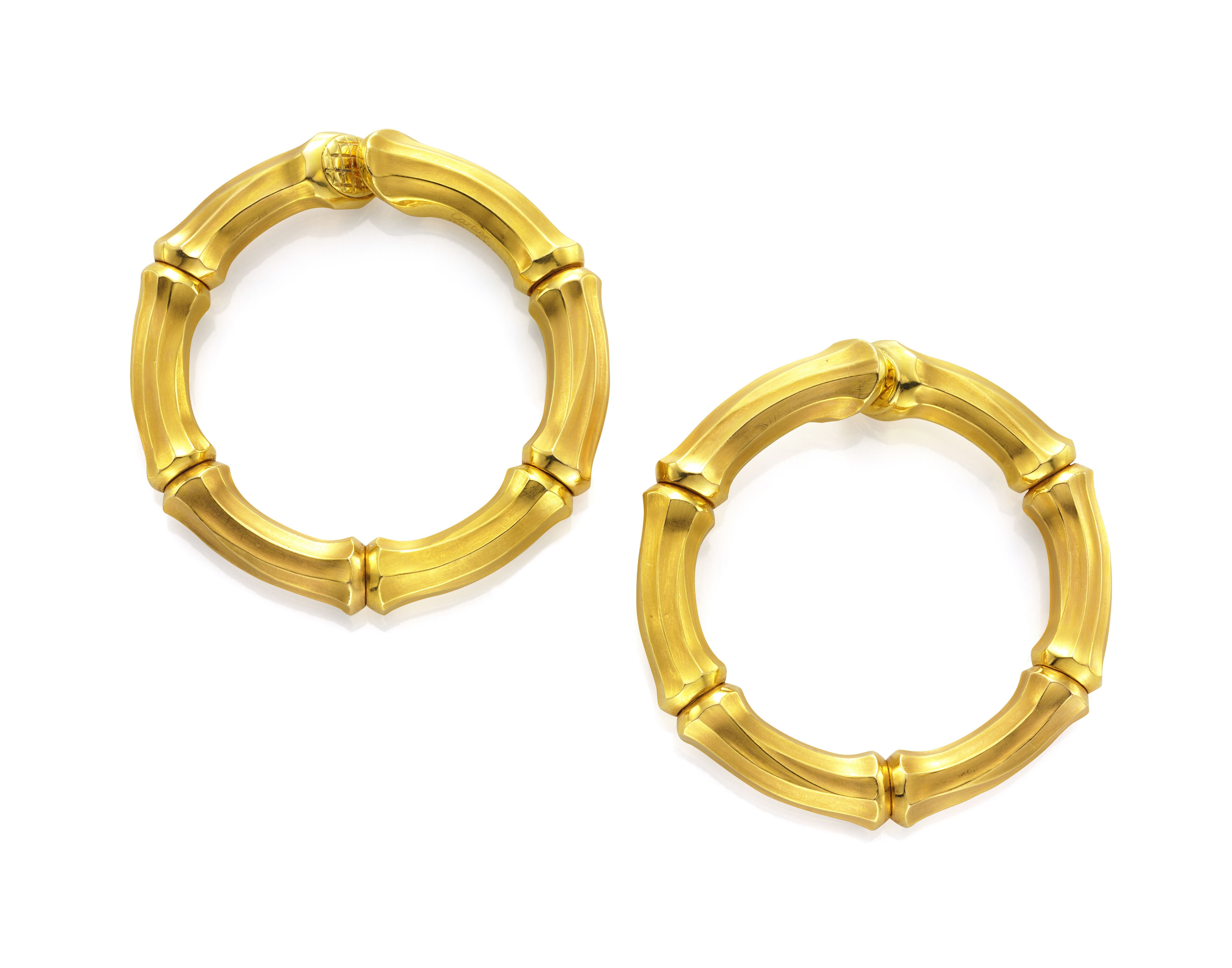 A Pair of Gold Bamboo Hoops, by Cartier.  Available at FD Gallery. www.fd-inspired.com