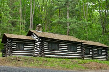 This Log Cabin Is A Rustic Cabin Available For Rent At Cook Forest State Park Pennsylvania A 2 3 Person One Wou Cabin Country Cabin Colorado Springs Camping