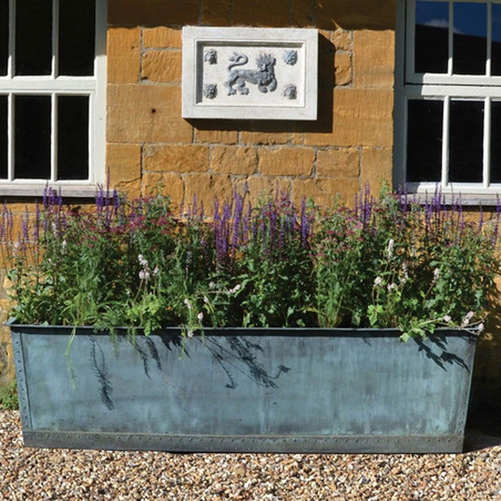 Planters, Large Rectangular Planter Tall Rectangular Planter Box ...