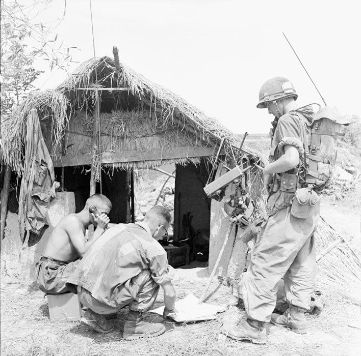 A Small Village Hut Is Used By Legionnaires Of The 2e BEP