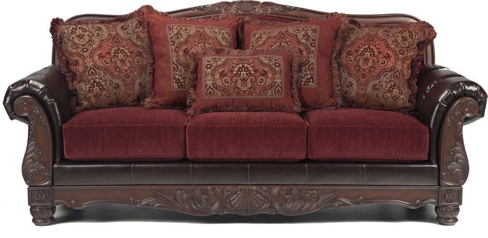 Faux leather sofa burgundy sofas love seat