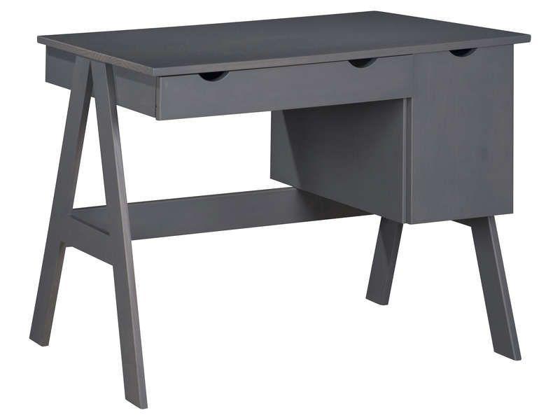 Bureau 1 porte 1 tiroir dolly coloris gris pas cher ? cest sur