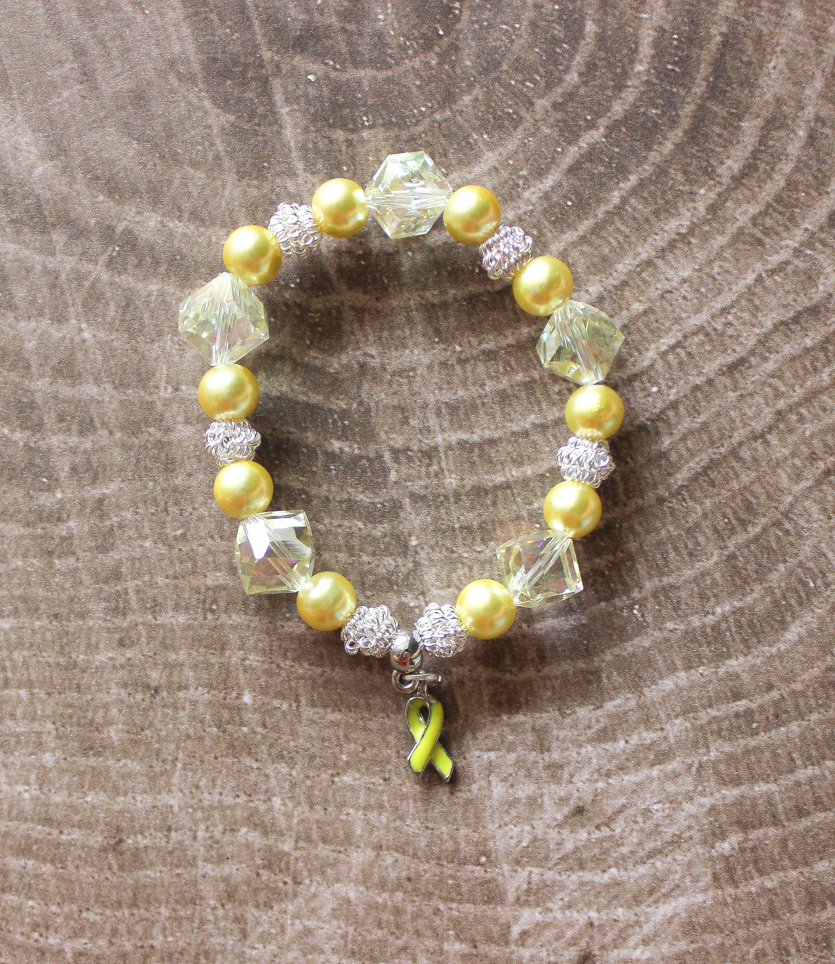 bifida spina ribbon fullxfull back listing never bracelet il look yellow en zoom adenosarcoma