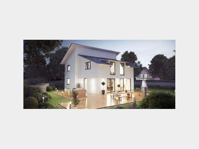 Einfamilienhaus modern pultdach  Leony 152 - #Einfamilienhaus von Abacus-HAUS | HausXXL #modern ...