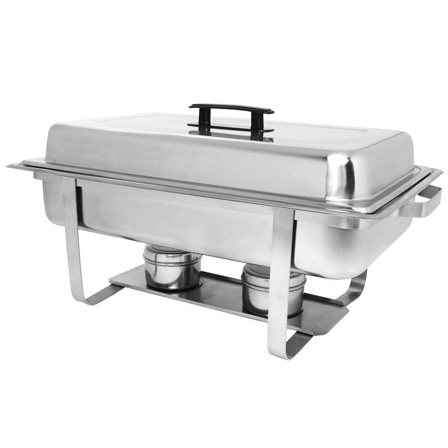 Choice Economy 8 Qt Full Size Stainless Steel Chafer Chafing