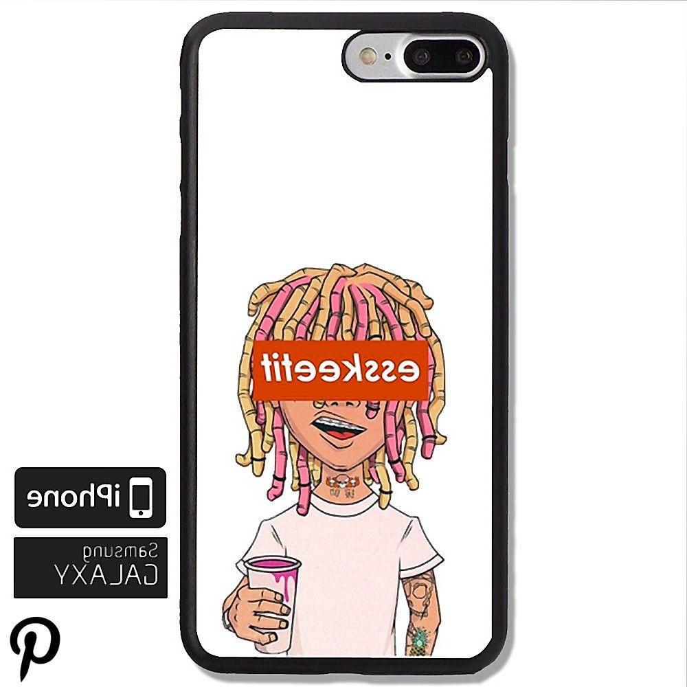 Lil Pump Esskeetit 3 Print On Hard Plastic Cover Protector Phone Case For iPhone 77 iPhone 88