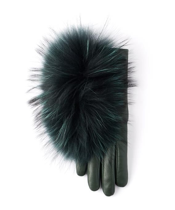 85a53f882c6 Echo Touch Raccoon Fur Glove Forest Green