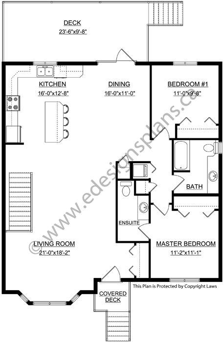 2 Bedroom Bi Level Home With Open Living: Plan 2013718: 1343 Sq. Ft. Bi-Level Plan With Spilt Entry