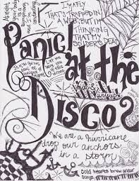 Panic At The Disco Lyric Art Google Search Panic At The Disco Lyrics Panic At The Disco Lyric Drawings