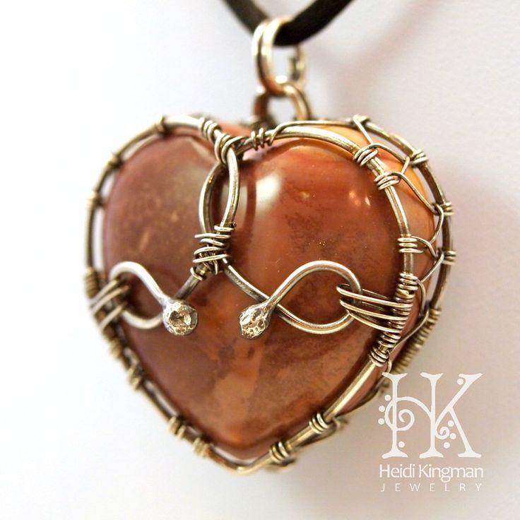 wire wrap heart stone - Google Search | Wire Wrap | Pinterest ...