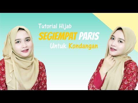 Tutorial Hijab Segiempat Paris Untuk Kondangan Amalia Kurnia 2017 Youtube