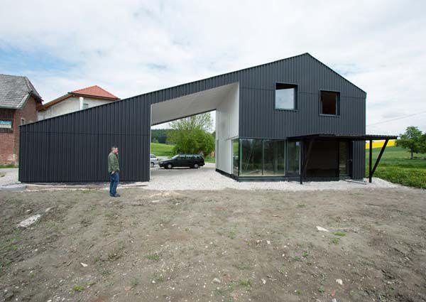 Minimalist Black Home in Austrian Countryside | Modern house ...