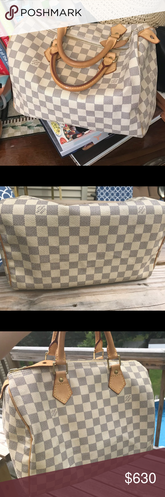 0edab7cf2098 Spotted while shopping on Poshmark  AUTHENTIC Louis Vuitton Damier Azur  Speedy 30!  poshmark  fashion  shopping  style  Louis Vuitton  Handbags