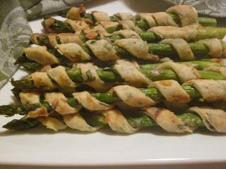 Hungry Couple: Healthy Asparagus Spiral Puffs