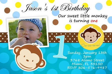 Mod monkey birthday party invitations photo printable invites mod monkey birthday party invitations photo printable invites cards 1st first custom personalized digital file mod monkey monkey invitations and filmwisefo Image collections