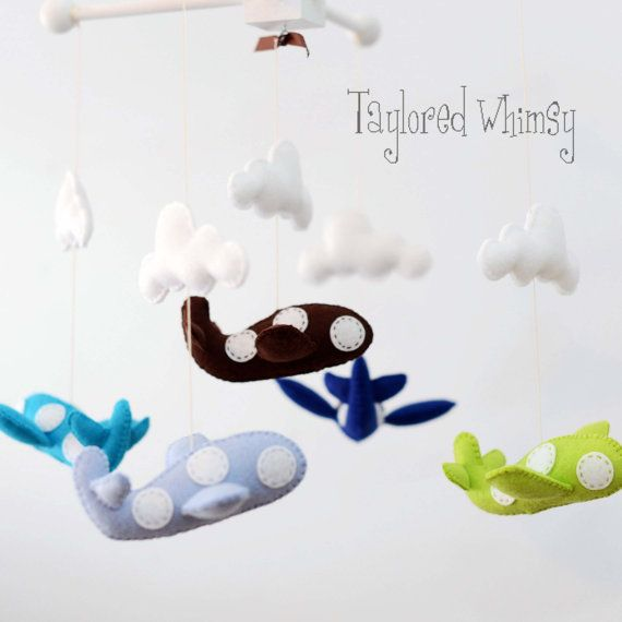 Airplane Mobile  Custom Mobile not ready made  von TayloredWhimsy, $85.00