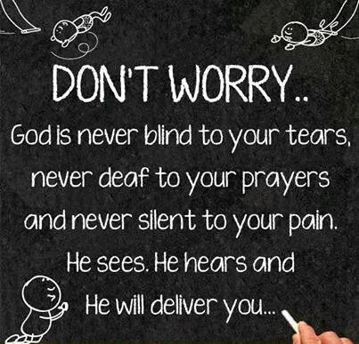 Have faith in god!