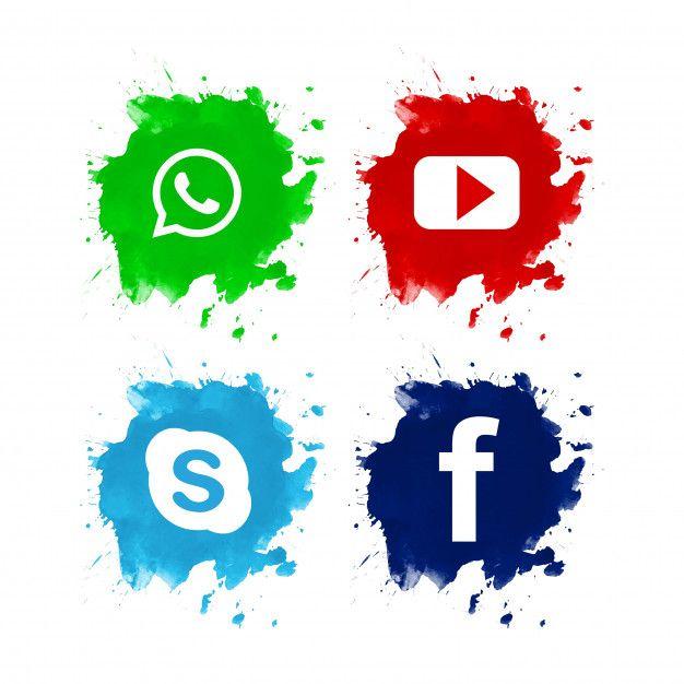 5fae0210a Diseño de conjunto hermoso icono de redes sociales Vector Gratis ...