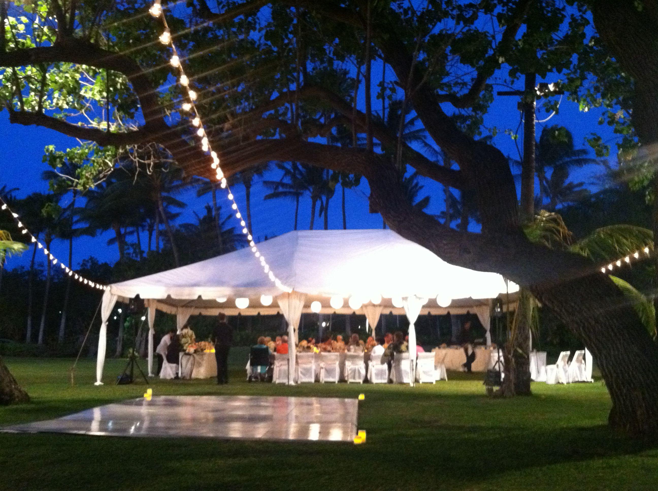 Lanikuhonua at dusk, Hawaii outdoor weddings | Outdoor ...
