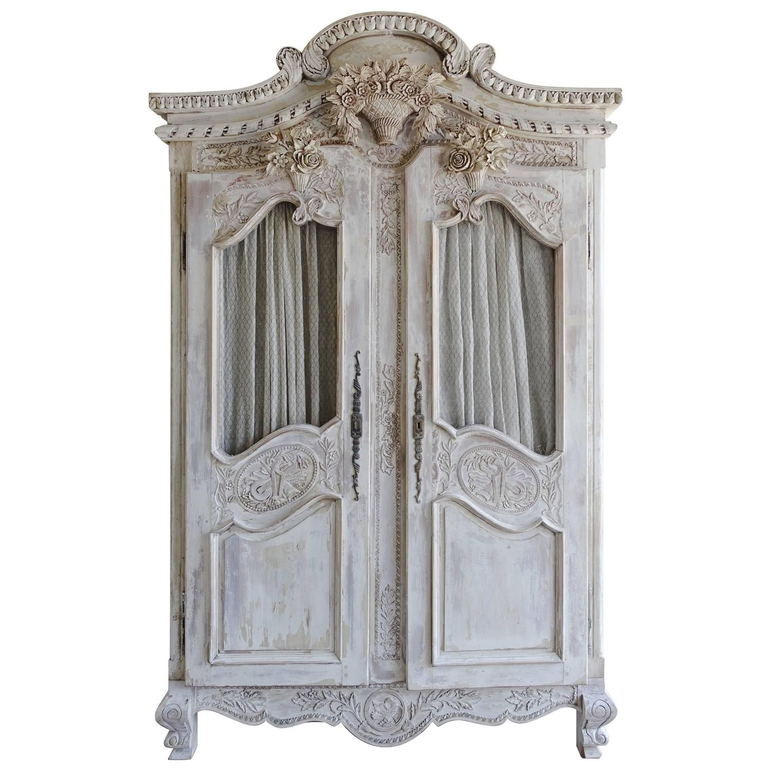 Best French Carved Painted Wedding Armoire Armoires Modern 400 x 300