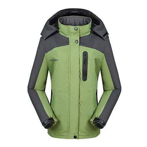 Jasuma Damen Winterjacke Warm Mantel mit Abnehmbare Kapuze