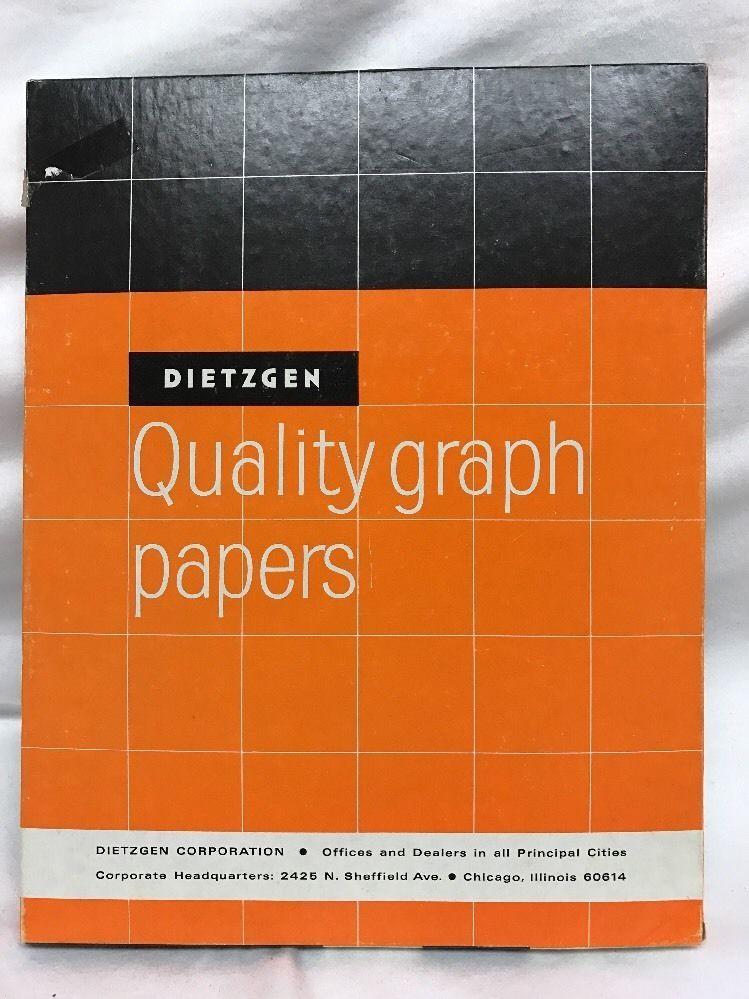 Dietzgen 341 Quality Graph Papers Vintage Paper 8.5 X 11