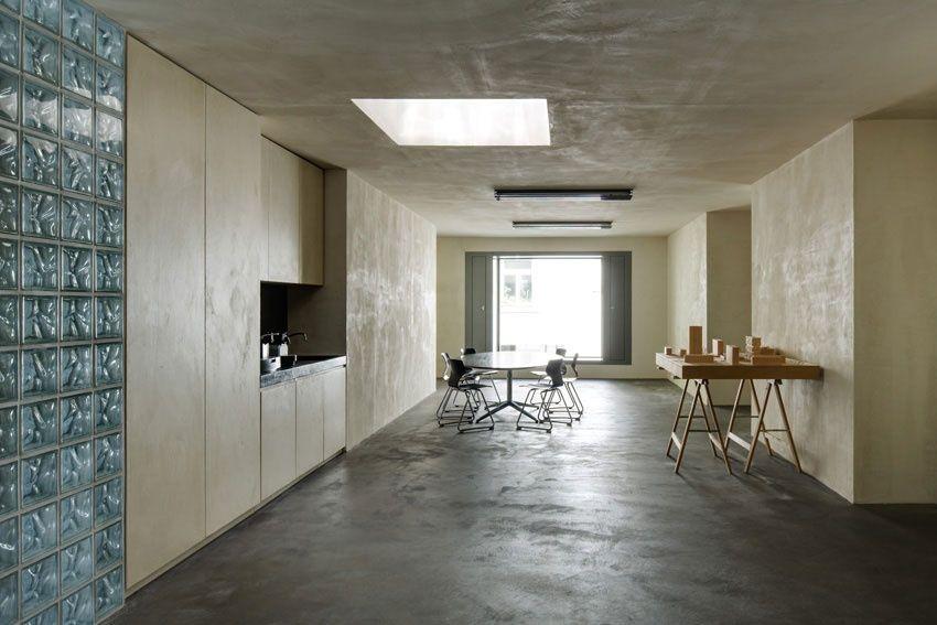 lehm-kasein-spachtelung atelierhaus boltshauser | lehm ton erde, Innenarchitektur ideen
