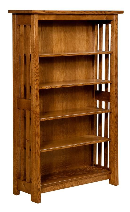 Faywood Bookcase With Mission Slats Rustic Furniture Design