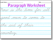 Worksheets Custom Cursive Worksheets cursive writing paragraph practice dotted line custom worksheets