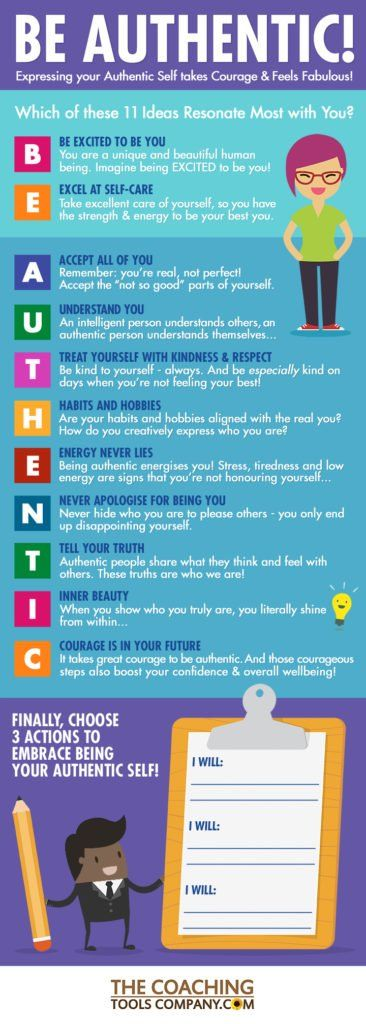 Be Authentic INFOGRAPHIC to Share   11 ideas on How to ...