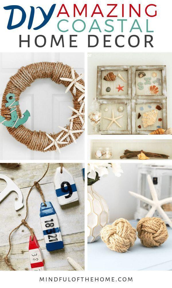 Photo of 17 Coastal Home Decor DIY Ideas For Ocean Lovers,  #Coastal #Decor #DIY #home #ideas #Lovers …