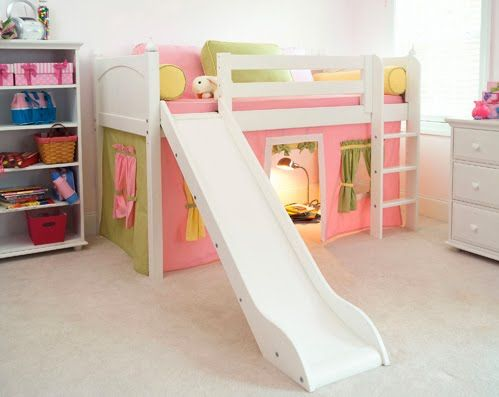 Bunk bed & IKEA Loft Bed With Slide | Thereu0027s always good olu0027 IKEA | Shaynau0027s ...