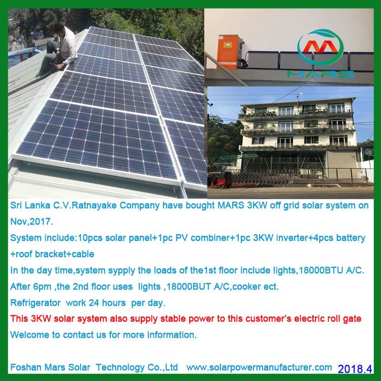 3kw Solar System In Sri Lanka In 2020 Solar Solar System Solar Power System