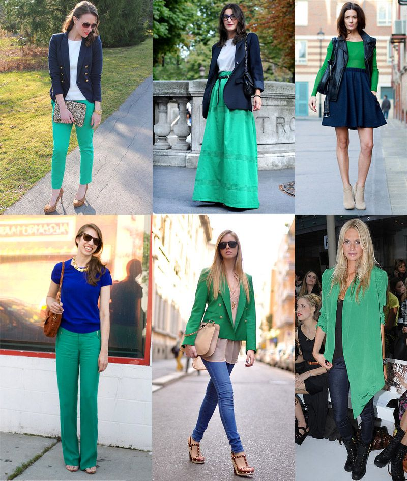 Blue and Green Outfits