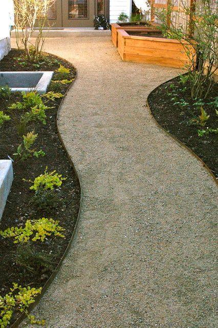 Photo of Contemporary Garden Paths Shrubs
