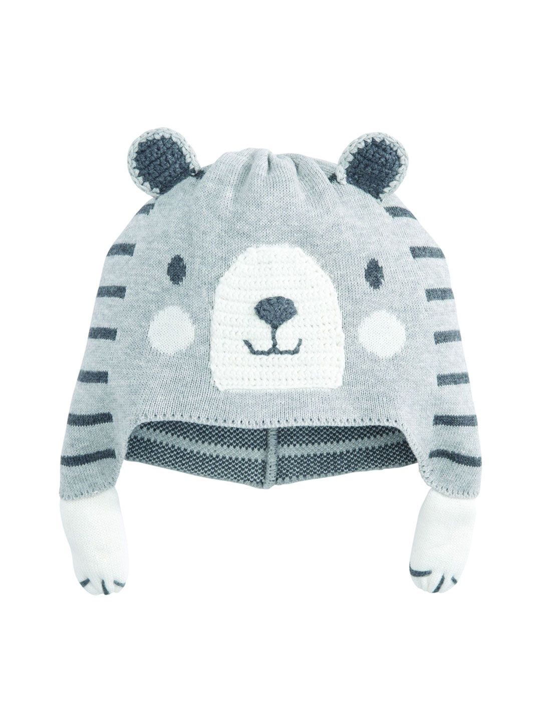 921a1df8f9a7 Knit cotton striped hat   Intarsia throughout   Front graphic ...