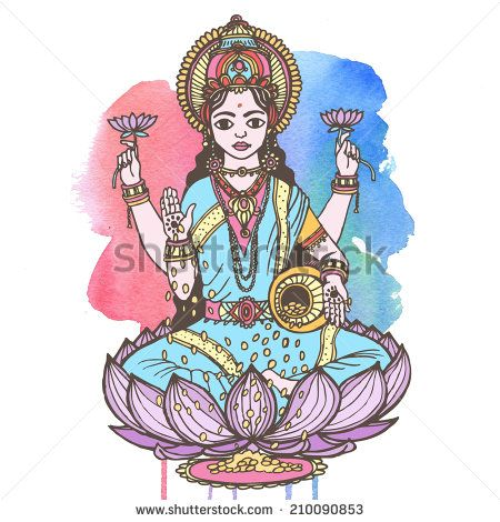 http://image.shutterstock.com/display_pic_with_logo/1204118/210090853/stock-photo-hindu-goddess-lakshmi-of-wealth-prosperity-fortune-and-the-embodiment-of-beauty-raster-hand-210090853.jpg