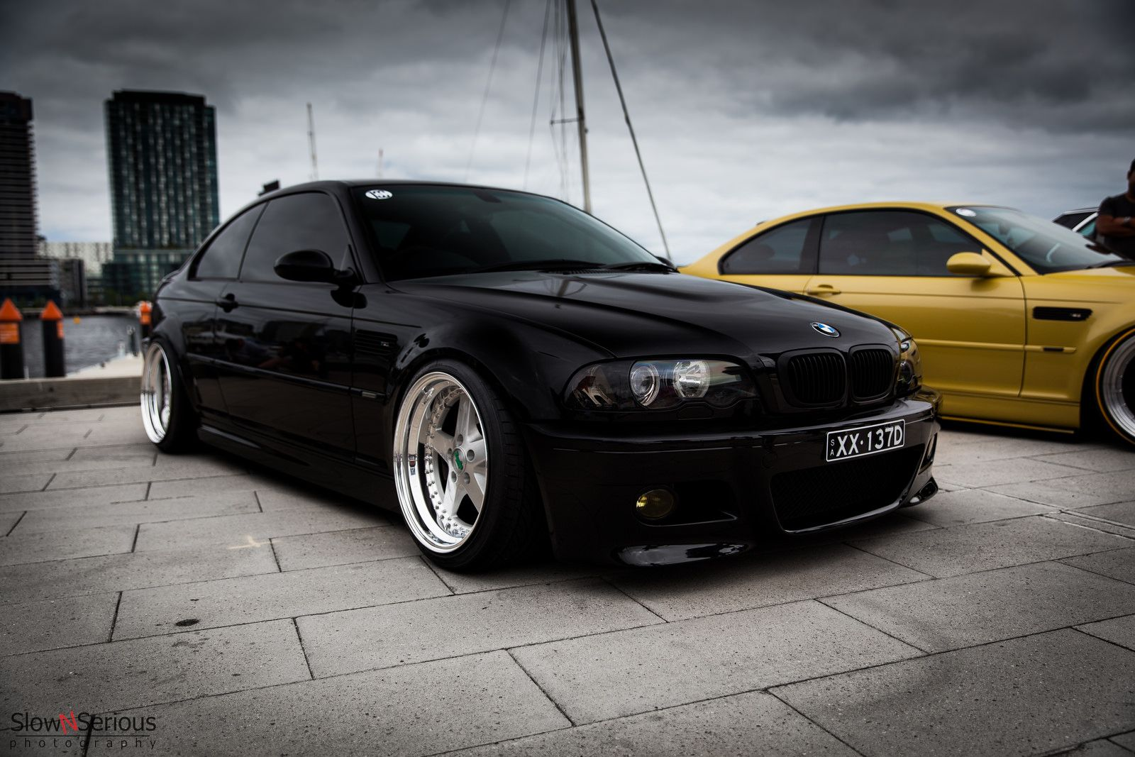 Bmw E46 M3 Black Deep Dish With Images Bmw Bmw Classic Cars