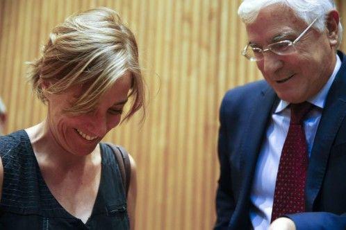 Tania Sánchez, junto al ex presidente de Castilla-La Mancha José María Barreda…