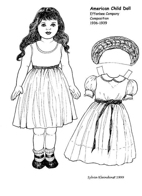 Paper Doll coloring pages - Bing Images | Arielle Gabriel: Paper ...