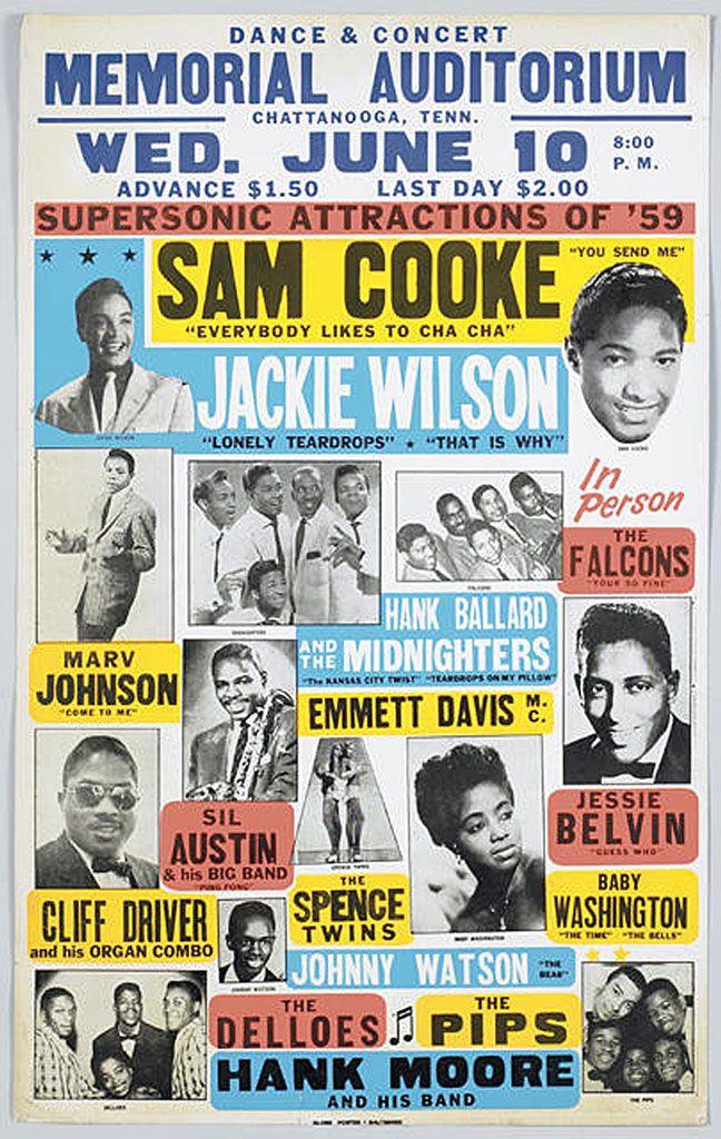 Sam Cooke Retro Style Gig Poster Art