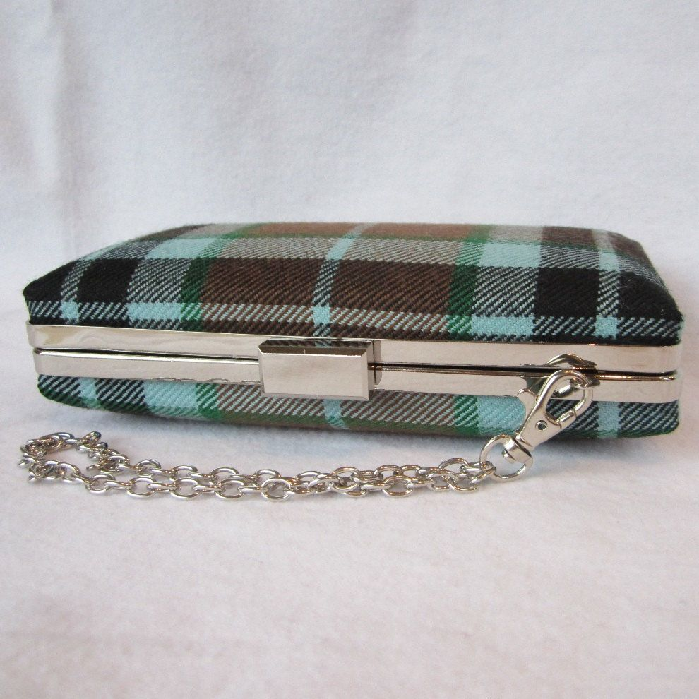 Thompson Tartan Clutch Purse, Hunting Tartan, Bag, Made in Scotland for Ceilidh, Wedding or Special Occasion by burningbricht on Etsy