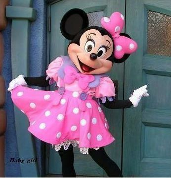 Minnie Mouse Mascot Costume Girl Birthday Party Dress Adult Size Pink Halloween