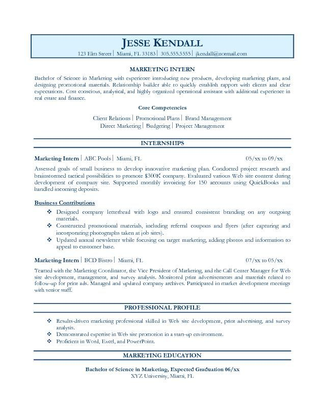 Internship Resume Objective Examples Learn even more about video