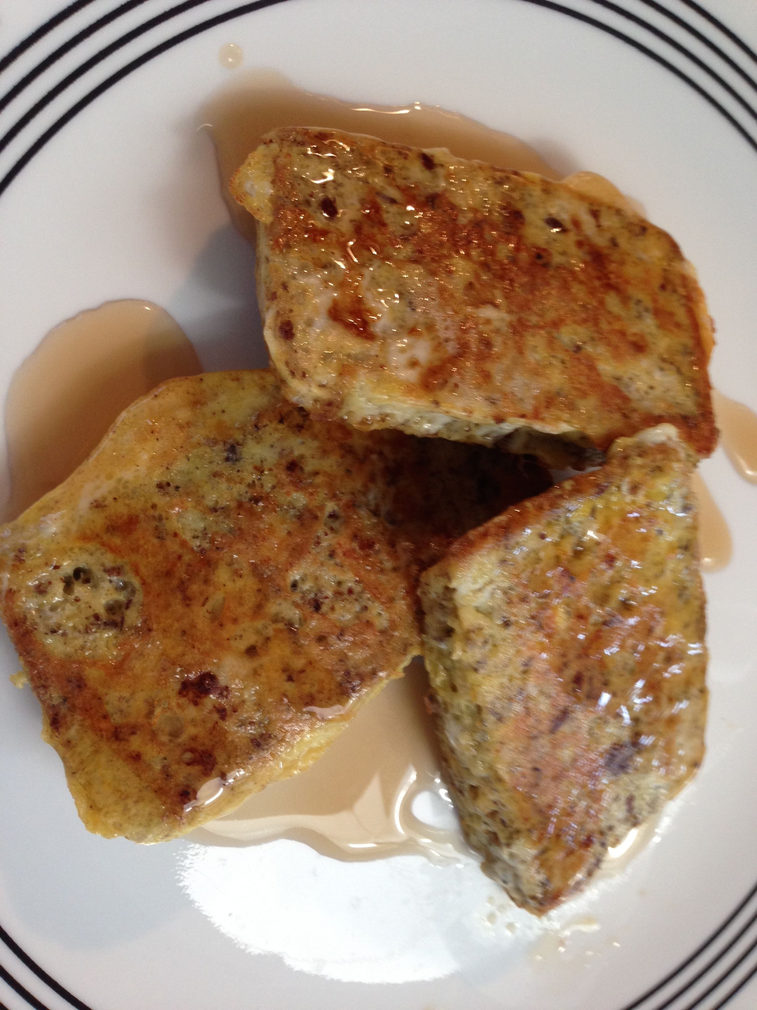 Paleo french toast with sugar free syrup. Use the keto ...