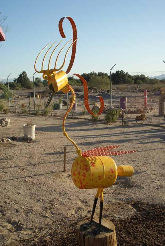 Yard Art Made From Junk | Yard Art,Welded Art,Recycled Art,Garden