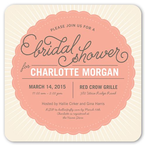 Bridal Shower Invitation Graphic Gala Rounded Corners Blue