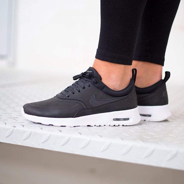 nike air max thea premium womens new black white