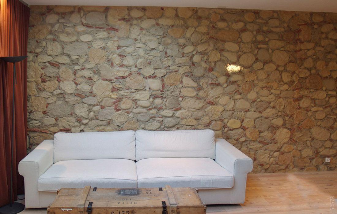 Steinwnde Wohnzimmer Ausstellung | Steinwand Cal Y Canto Wandgestaltung Wohnzimmer Pinterest
